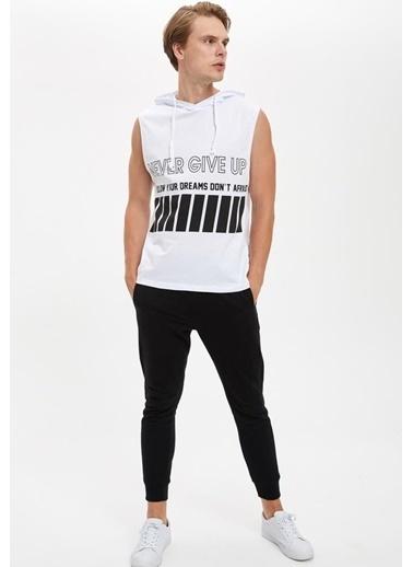 Defacto –Fit Sweatshirt Beyaz